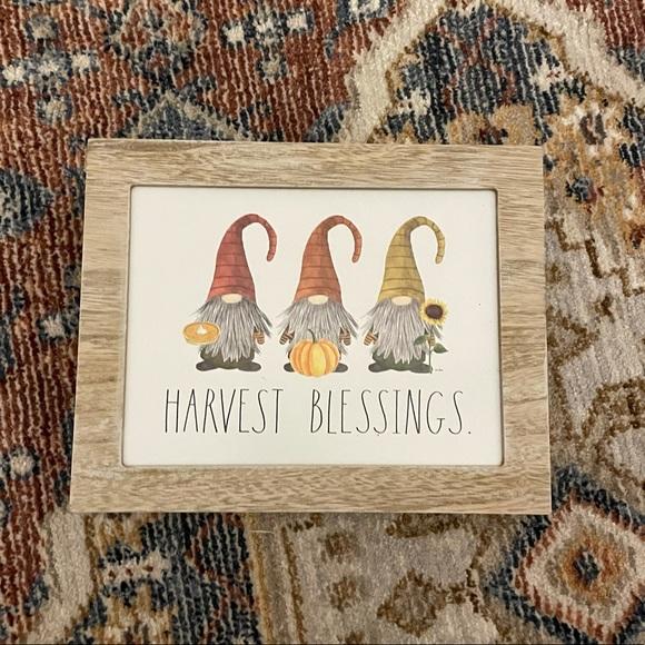 Rae Dunn HARVEST BLESSINGS. Sign